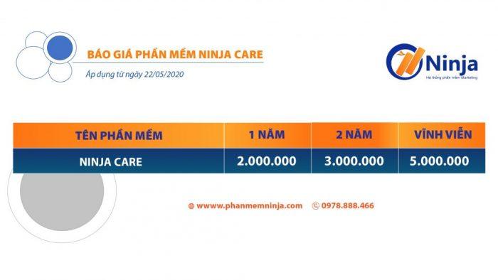 bảng giá phần mềm ninja care