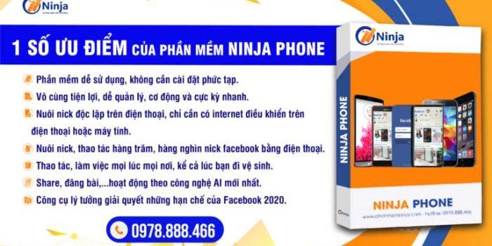ưu điểm của phần mềm nuôi nick facebook trên điện thoại