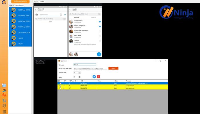 Phần mềm hỗ trợ tạo nhóm chat dễ dàng