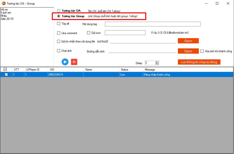 cap nhat phan mem ninja system zalo 1 Cập nhật phần mềm Ninja System Zalo version 3.1